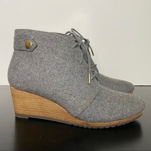 Dr. Scholl's Mid Grey Booties Continue wedge ankle